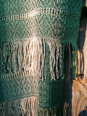 Fringe and leno lace detail.