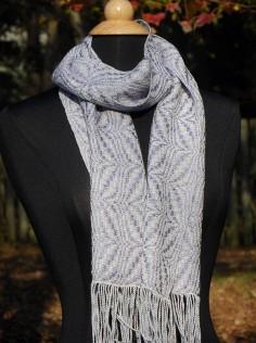 A scarf worn.