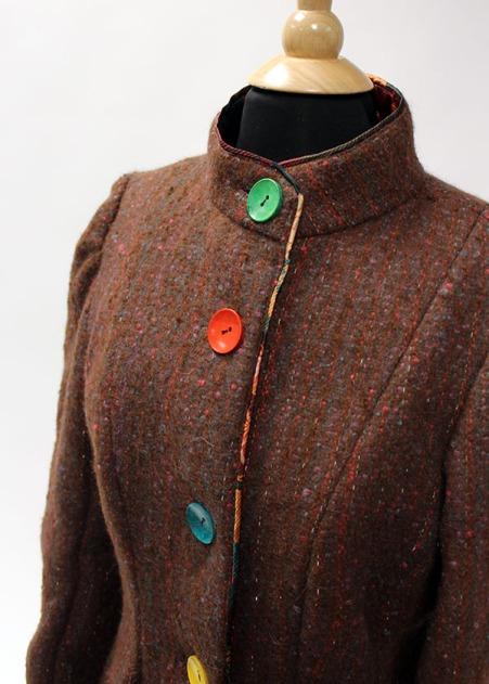 Alpaca wool jacket front.
